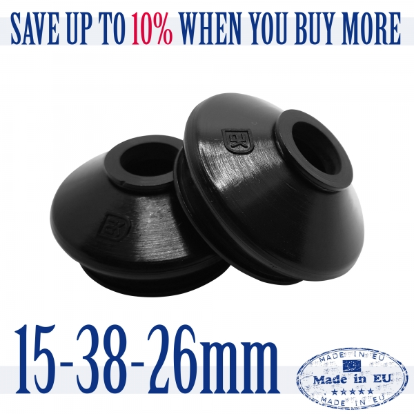 2 X HQ Rubber 15 38 26 Ball Joint Dust Boots Suspension Replacement Rubber Boot