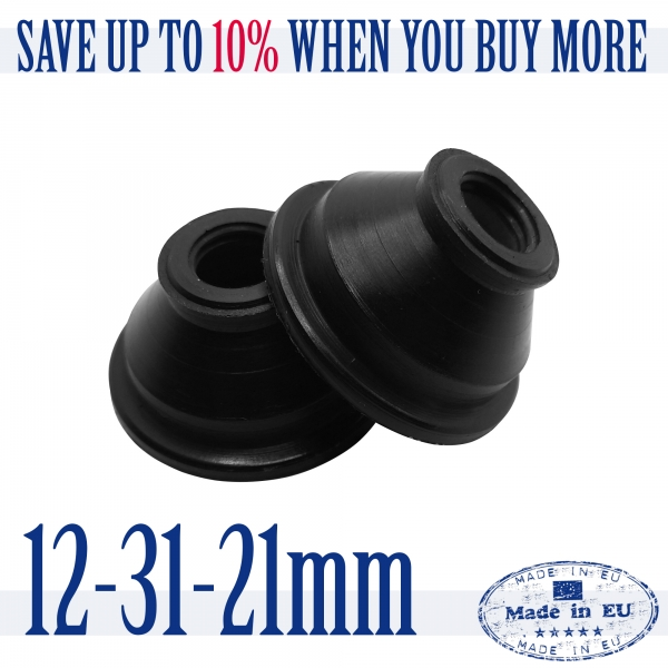 2 X High Quality Rubber 12 31 21 Dust Cover and Ball Joint Boots Tie Rod End