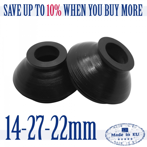 2 X High Quality Rubber 14 27 22 Dust Cover and Ball Joint Boots Tie Rod End