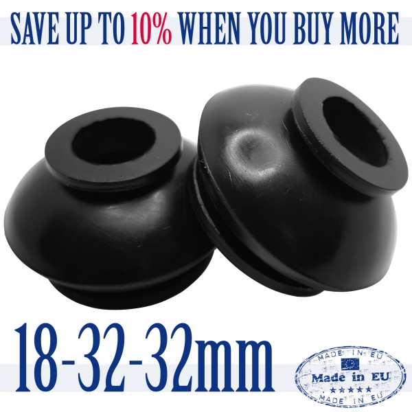 2 X High Quality Rubber 18 32 32 Dust Cover and Ball Joint Boots Tie Rod End