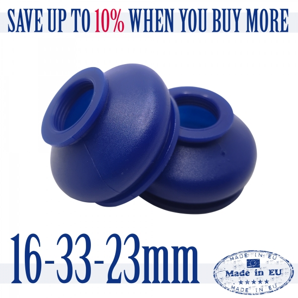 2 X UNIVERSAL Dust Boot Silicone 16 33 23 Track Rod End and Ball Joint Boots