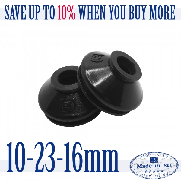 2 X UNIVERSAL High Quality Rubber 10 23 16 Track Rod End & Ball Joint Dust Boots