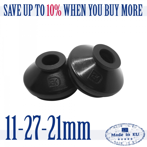 2 X UNIVERSAL High Quality Rubber 11 27 21 Track Rod End and Ball Joint Boots