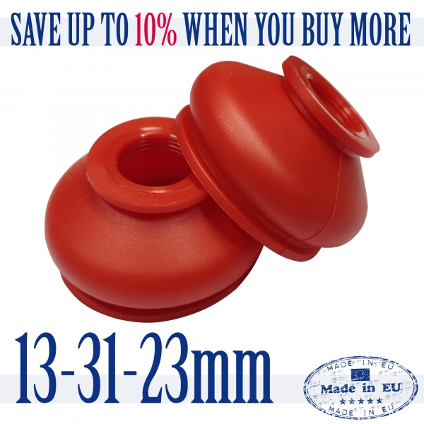 2 X UNIVERSAL Silicone 13 31 23 Tie Rod End and Ball Joint Dust Boots Cover