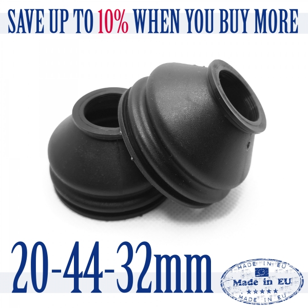 2 X UNIVERSAL Silicone 20 44 32 Tie Rod End and Ball Joint Dust Boots Cover
