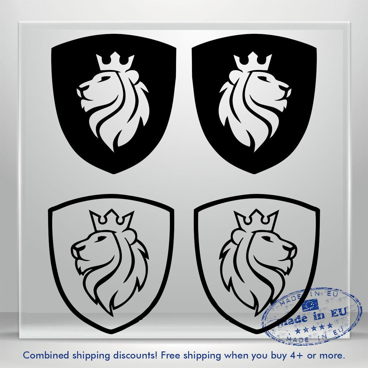 Coat Of Arms Vinyl Decal Sticker Lion Head Auto Car Bumper Window Decals Truck