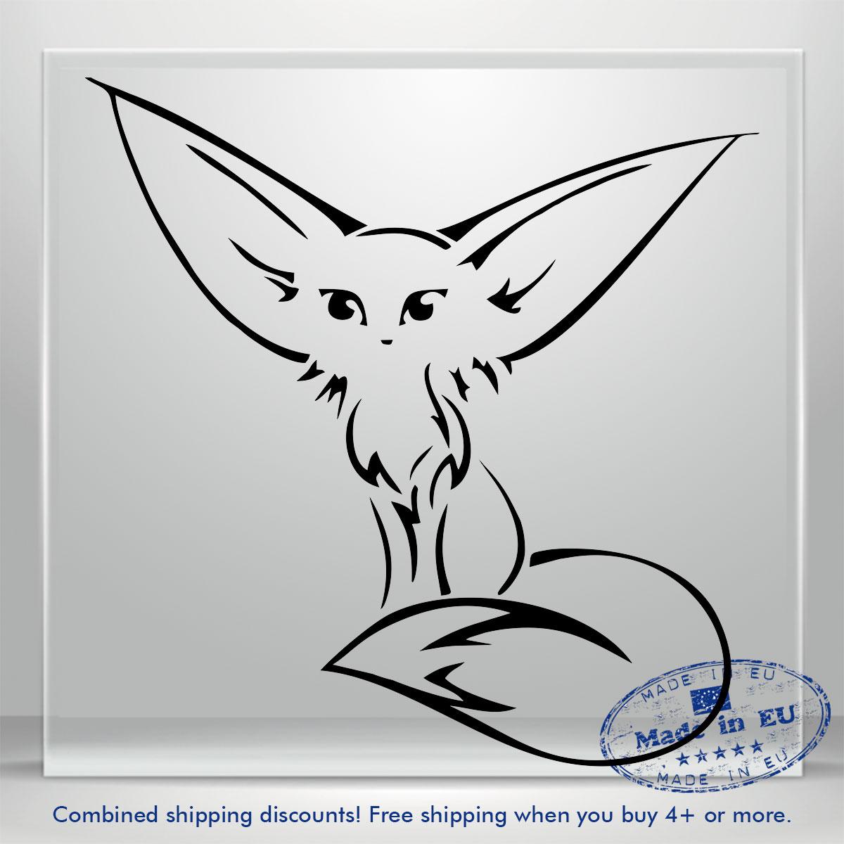 Vinyl Decal Fox Head Silhouette Boats Windows Walls Cars Trucks Lap Tops Ebay