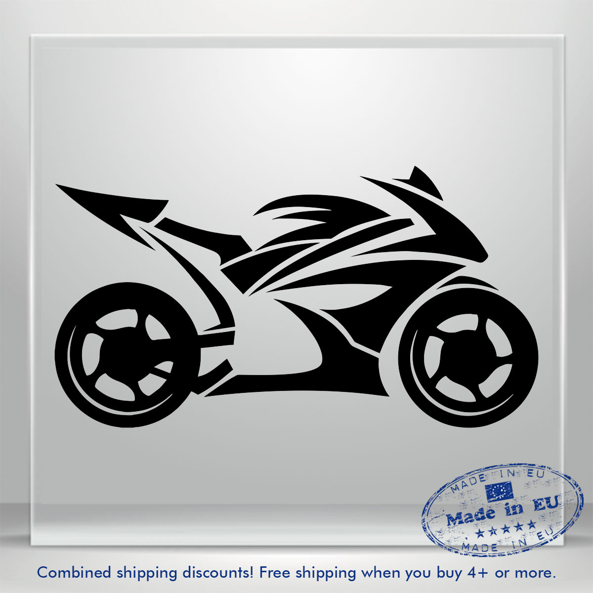 Details about motorcycle motorbike bumper window auto car vinyl decal sticker bike honda bmw