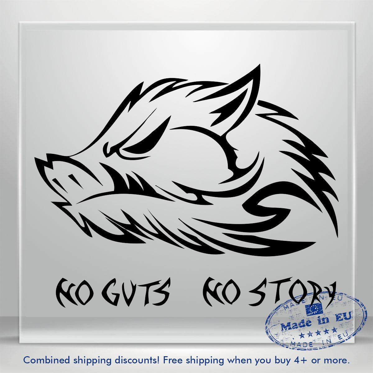 Wild Boar Pig Hunting Window Sticker Car Truck Graphic 3 Hog Slayer Decals