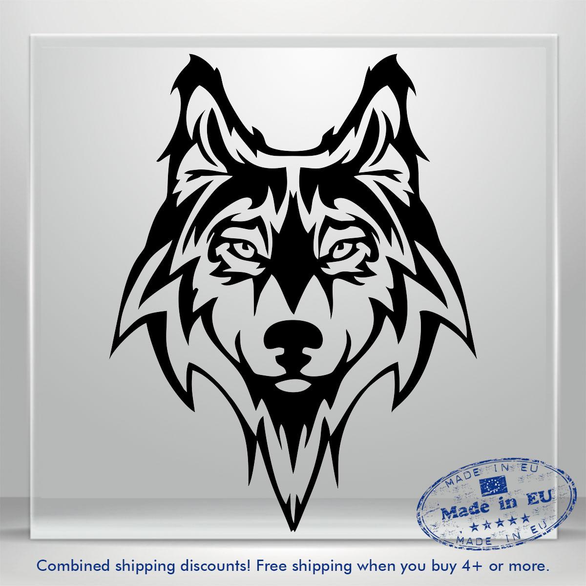 Details about wolf dog doggy snout auto car bumper window vinyl decal sticker truck waterproof