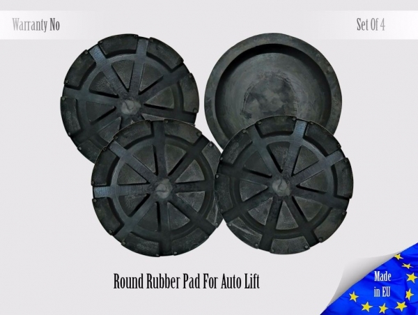 110mm Round Rubber Arm Pad For Auto Lift 4x