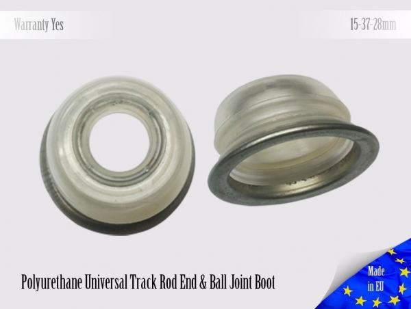 2 X UNIVERSAL Polyurethane 15 37 28 With Metal Ring and Ball Joint Dust Boots