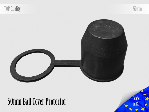 50mm Rubber Trailer Ball, Ideal Towball Hitch Ball Cover Protector
