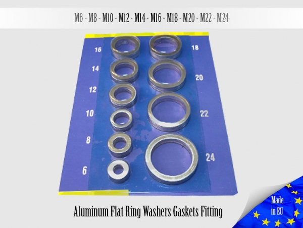 50x 1.0mm Multiple Metric Аluminum Flat Ring Oil Drain Plug Crush Washer Gaskets
