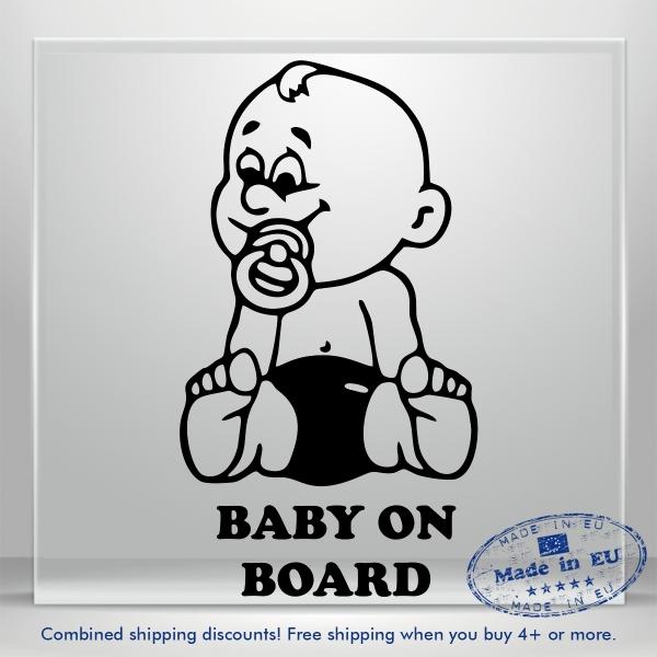 Baby On Board Decals Auto Car Bumper Window Vinyl Decal Sticker Truck Waterproof