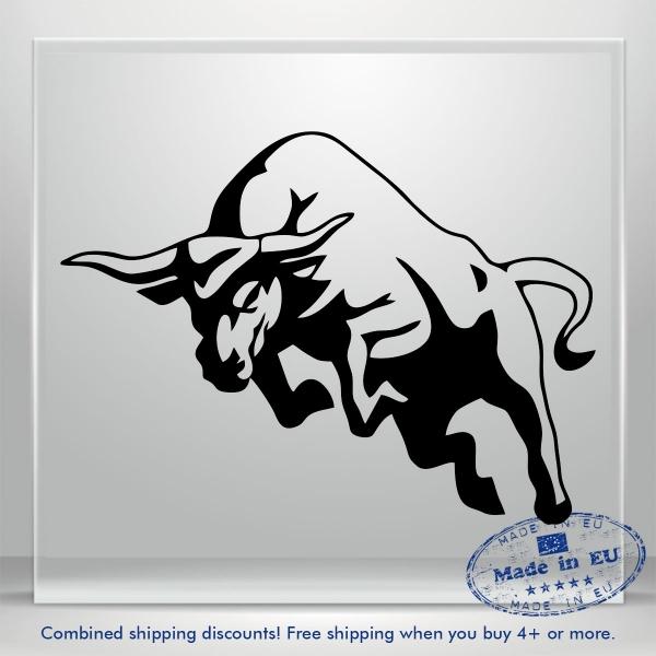 Buffalo Bull Cow Auto Bumper Window Vinyl Car Decals Sticker Truck Mirrored