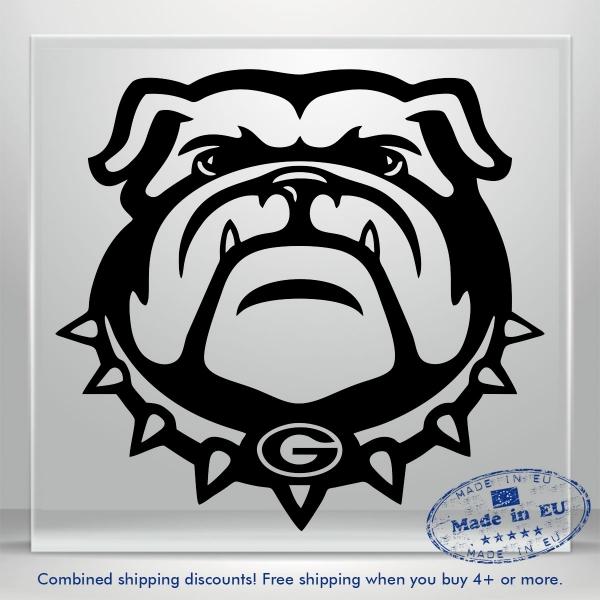 BullDog Scary Decal Dog Auto Car Bumper Window Vinyl Sticker Cartoon DIY Decor