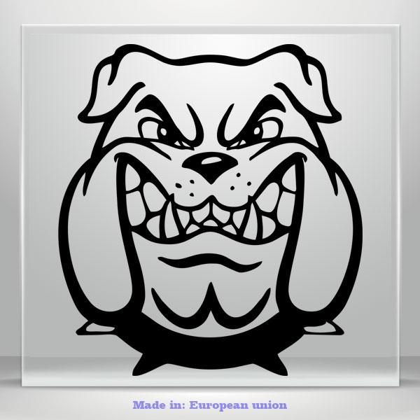 BullDog Scary Decal Dog Truck Car Bumper Window Vinyl Sticker Cartoon Laptop Mac