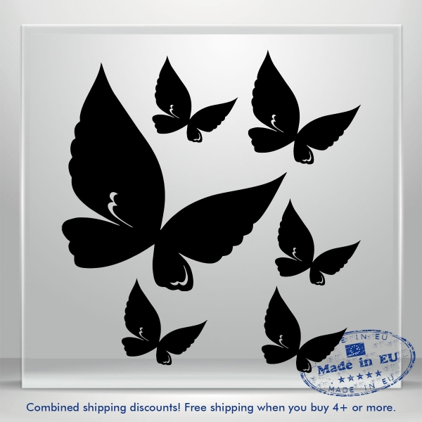 Butterfly Funny Cute Auto Car Sticker Vinyl Decals Waterproof Tablet Laptop 6x