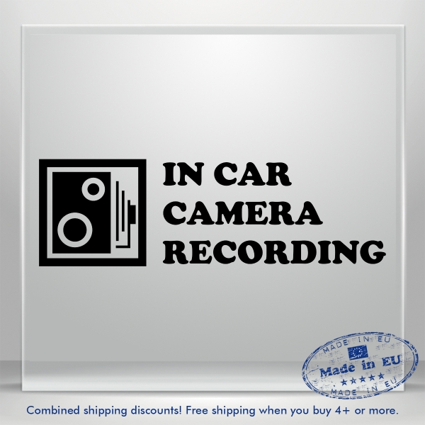Camera In Car Recording Vinyl Decal Sticker Auto Bumper Window Cam On Board 5x