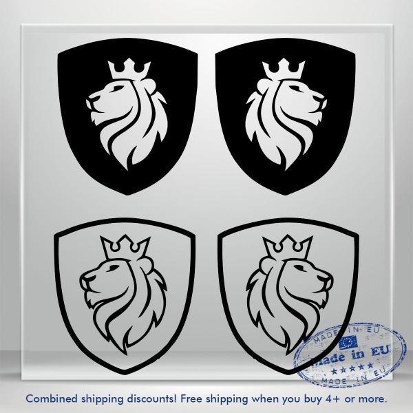 Coat Of Arms Vinyl Decal Sticker Lion Head JDM Auto Car Bumper Window Decals 3M