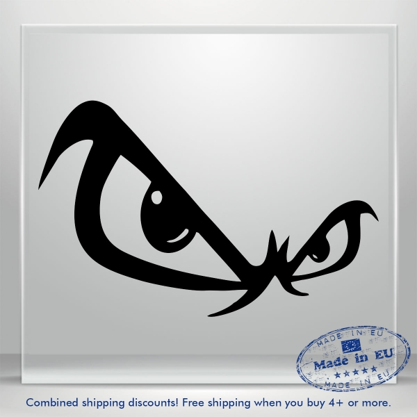 Eyes Decals Angry Auto Car Bumper Window Vinyl Decal Sticker Waterproof Jeep Art