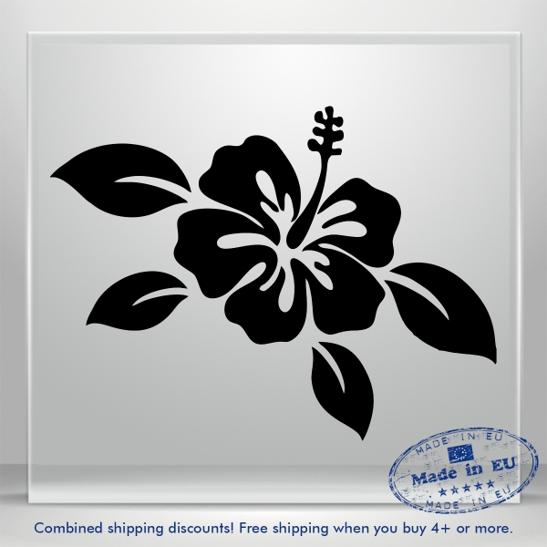 Flower Vinyl Mirror Wall Sticker Mural Decal Car Removable Art Home Decoration