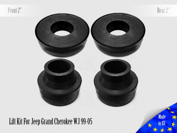 Front 2 Rear 2 Lift Kit For Jeep Grand Cherokee WJ 99-05 Leveling Coil Spring