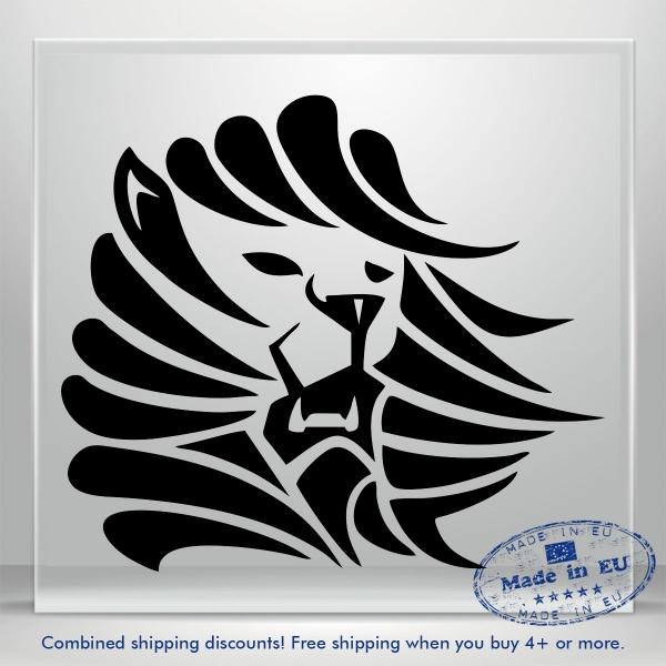 Lion Head Decal Funny Scary Puma JDM Auto Car Bumper Window Vinyl Sticker Laptop