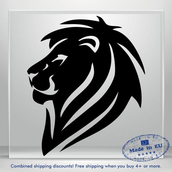 Lion King Head Vinyl Decal Sticker Funny JDM Auto Car Bumper Window Tablet Wall