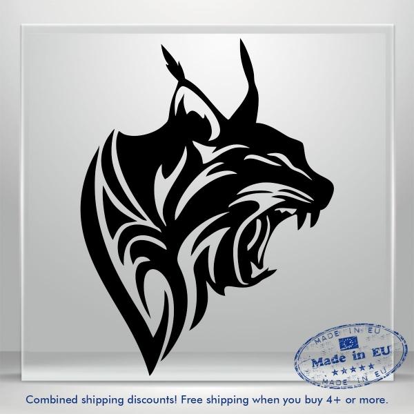 Lynx Puma Sticker Auto Car Bumper Window Vinyl Decal JDM Lion Panther Catamount