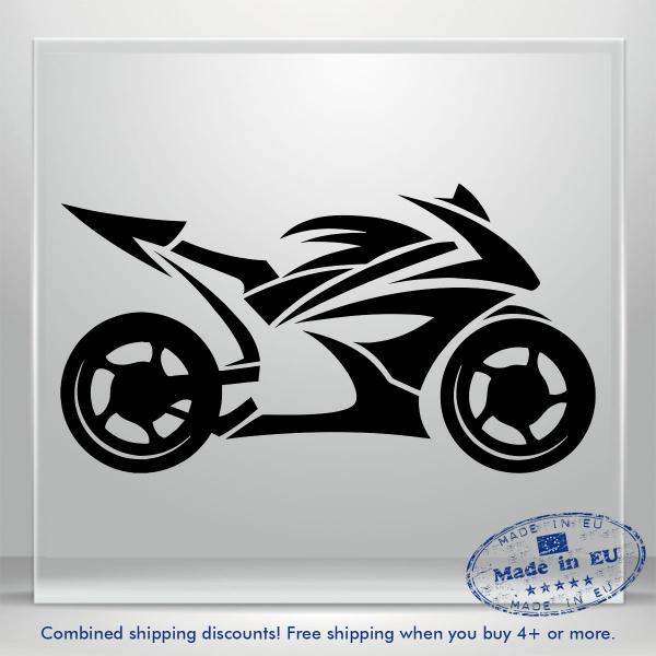 Motorcycle Motorbike Bumper Window Vinyl Decal Sticker Bike Honda JDM Auto Car