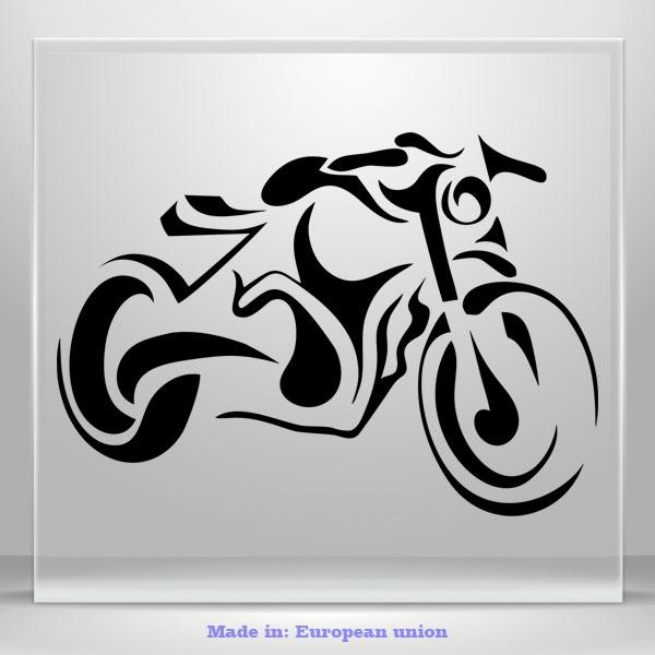 Motorcycle Motorbike Decal Bumper Window JDM Auto Car Vinyl Sticker Bike Vintage