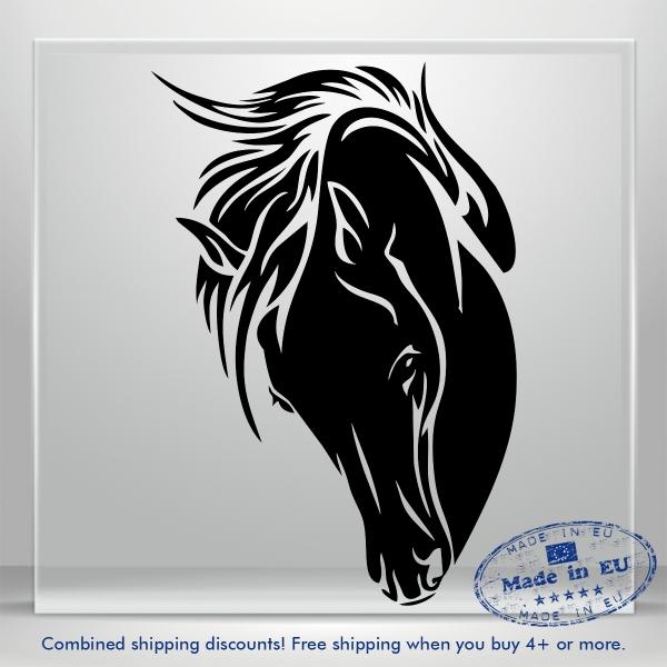 Mustang Vinyl Sticker Horse Window Decal Fire JDM Auto Car Bumper Truck Laptop