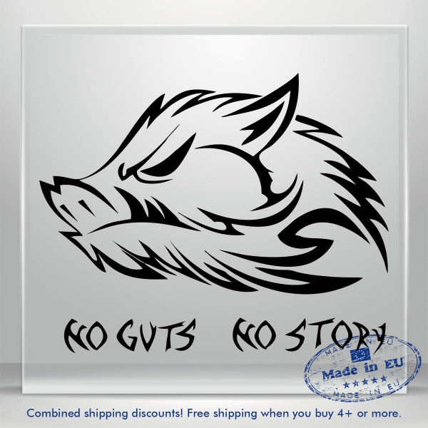 No Guts No Story Wild Boar Truck JDM Auto Car Bumper Window Vinyl Decal Sticker