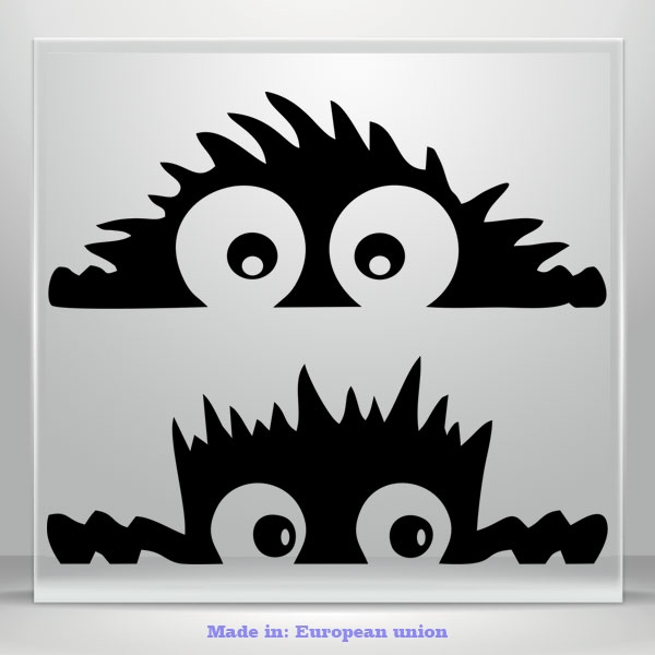 Peeking Monsters Funny Cute Sticker Vinyl Waterproof Decal Car Tablet Laptop 2x