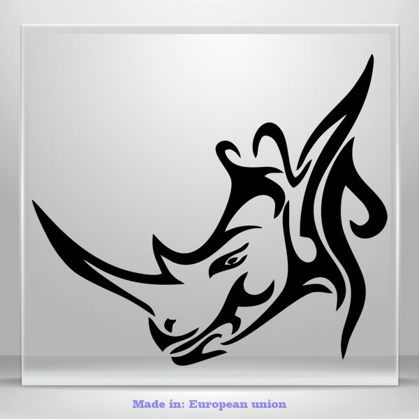 Rhinoceros Decal Head Rhino JDM Auto Car Bumper Window Vinyl Sticker Fire Truck