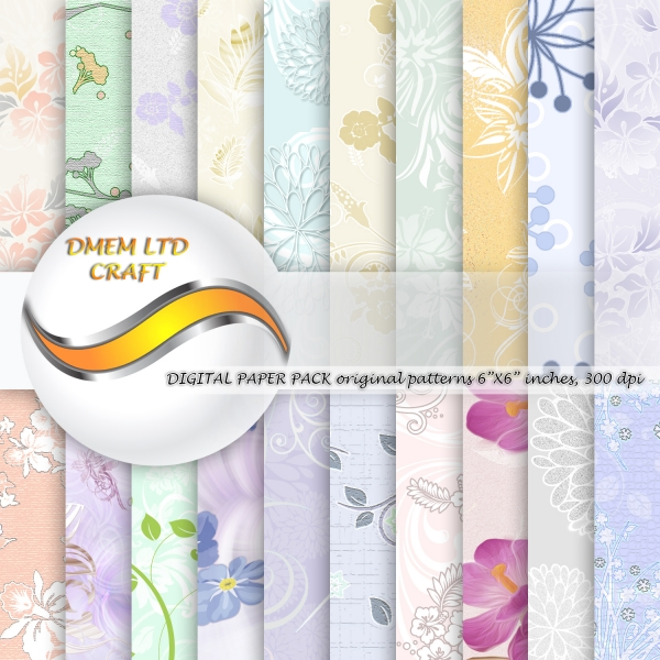 Scrapbook Flower Watercolor Paper Pack Floral Design Background Pattern Download