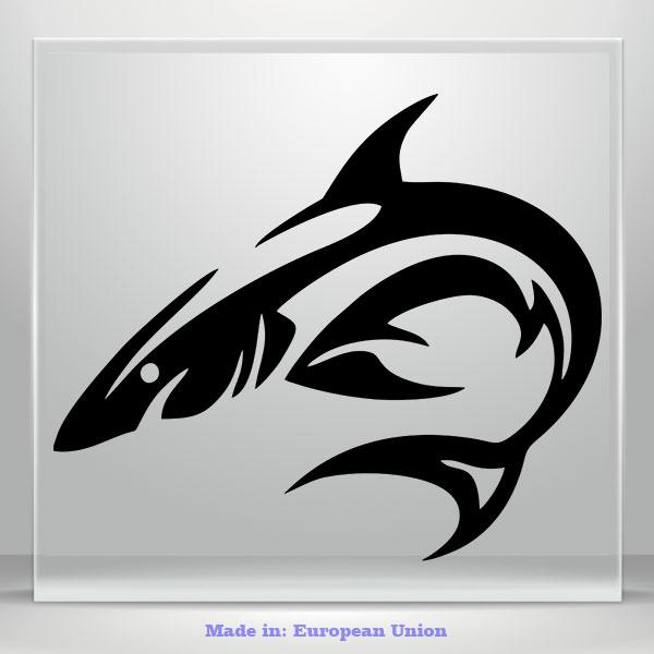 Shark Fish Funny JDM Auto Car Bumper Window Vinyl Decal Sticker Tablet DIY Decor