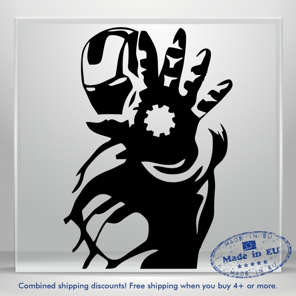SuperHero Avengers Vinyl Wall Decal Sticker DC Marvel Kid Iron Man JDM Auto Car
