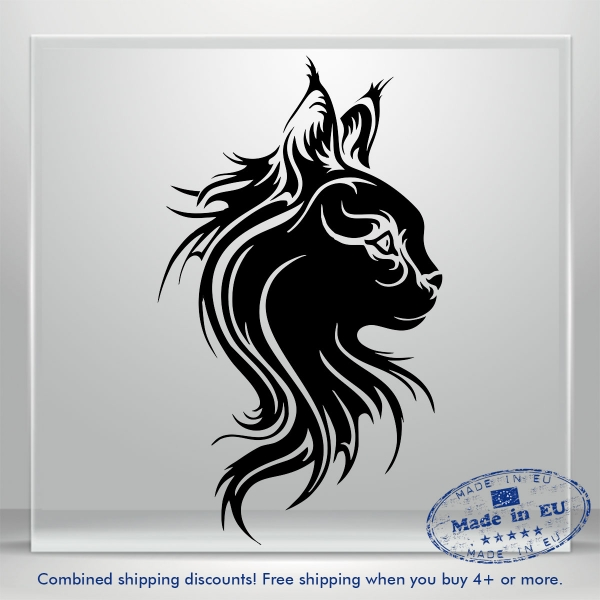 Sweet Kitty Decals Pussy Cat Funny Car Bumper Window Vinyl Decal Sticker Tribal