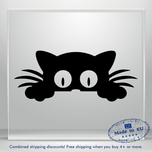 Sweet Kitty Vinyl Decal Sticker Pussy Cat Auto Car Bumper Window Art 2x Mirrored