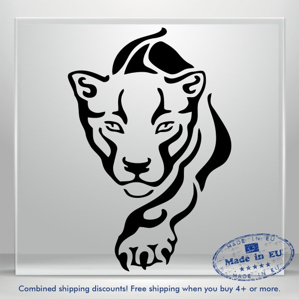 Tiger Decal Lion Sweet Puma JDM Auto Car Bumper Window Vinyl Sticker DIY Decor