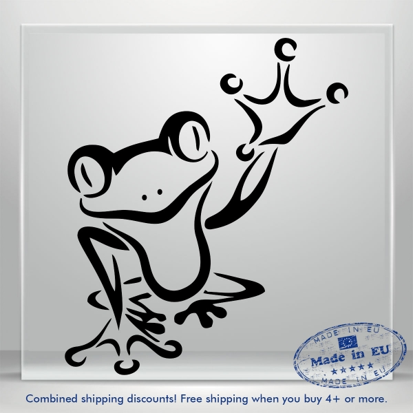Waving Frog Decal Funny JDM Auto Car Bumper Window Vinyl Sticker Banner Truck 3M