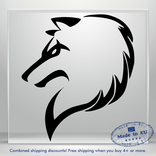 Wolf Car Sticker Funny Fox Dog JDM Auto Bumper Window Vinyl Decal Truck Banner