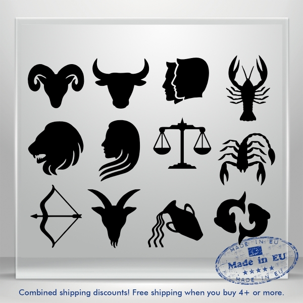 Zodiac Decal Set Astrological Astrology Car Bumper Window Vinyl Sticker Truck 3M